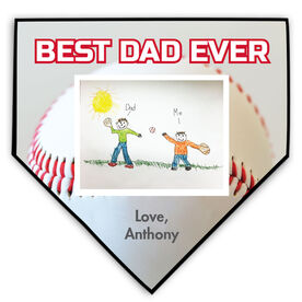 Baseball Home Plate Plaque Your Artwork With Baseball Background