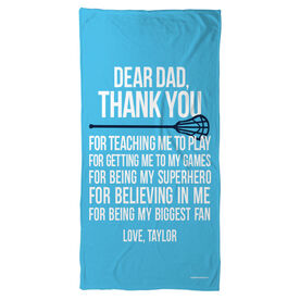 Lacrosse Beach Towel Dear Dad