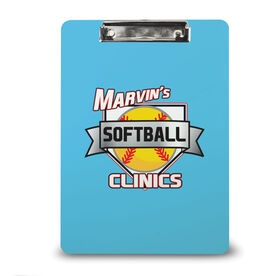 Softball Custom Clipboard Softball Custom Logo