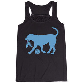 Volleyball Flowy Racerback Tank Top - Volleyball Dog