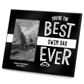 Swimming Photo Frame Best Swim Dad Ever