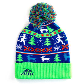 Running Knit Hat - Christmas Sweater (Neon)