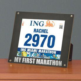 BibDISPLAY - Runners Race Bib Frame - My First Marathon