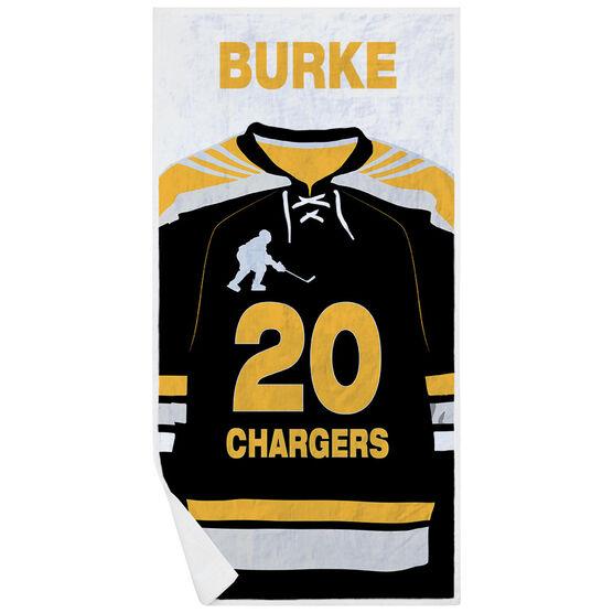 Hockey Premium Beach Towel - Personalized Jersey