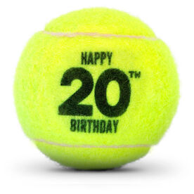Birthday Tennis Ball with Age