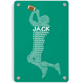 Football Metal Wall Art Panel - Personalized Football Words
