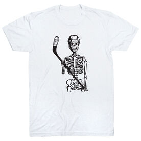 Hockey Short Sleeve T-Shirt - Skeleton (Black)