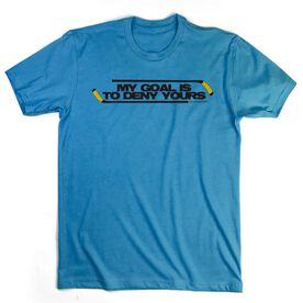 Hockey Tshirt Short Sleeve My Goal Is To Deny Yours Hockey (Black/Yellow)