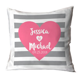 Personalized Throw Pillow - Love Our Chic Heart Text