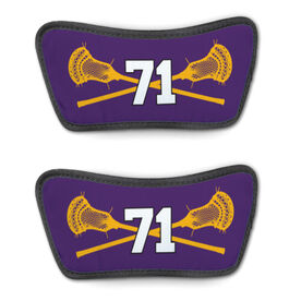 Guys Lacrosse Repwell™ Sandal Straps - Crossed Sticks with Number