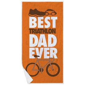 Triathlon Premium Beach Towel - Best Dad Ever
