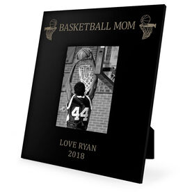 Basketball Engraved Picture Frame - Basketball Mom