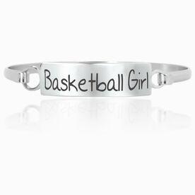 Basketball Engraved Clasp Bracelet Basketball Girl