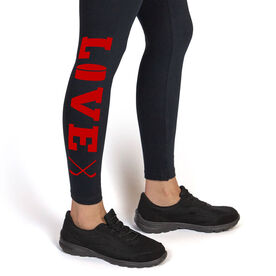 Girls Hockey Leggings Love