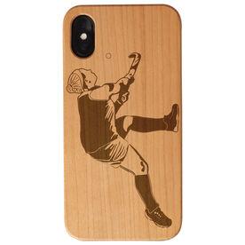 Field Hockey Engraved Wood IPhone® Case - Player Scoring