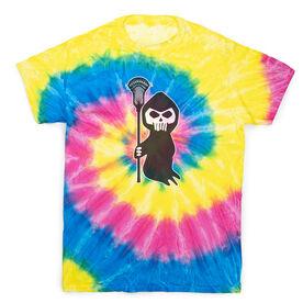 Guys Lacrosse Short Sleeve T-Shirt - Lacrosse Reaper Tie Dye