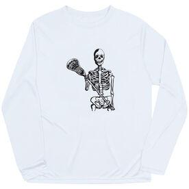 Guys Lacrosse Long Sleeve Performance Tee - Skeleton (Black)