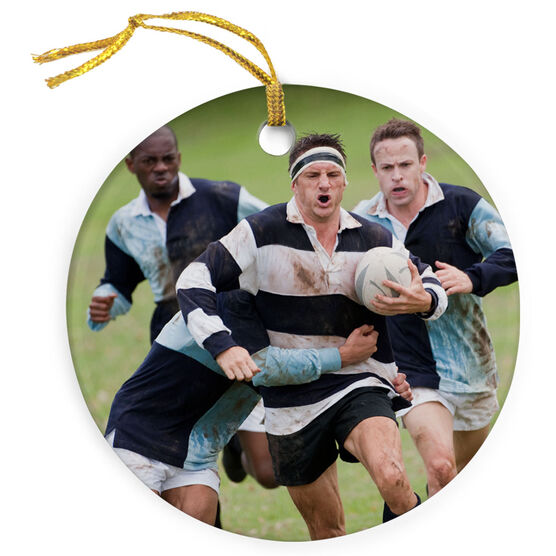 Rugby Porcelain Ornament Custom Rugby Photo
