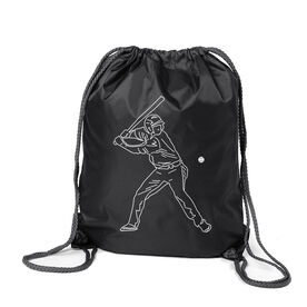 Baseball Sport Pack Cinch Sack - Baseball Player Sketch