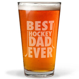 16 oz. Beer Pint Glass Best Hockey Dad Ever