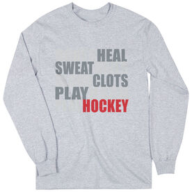 Hockey Tshirt Long Sleeve Bones Saying