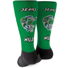 Seams Wild Lacrosse Printed Mid-Calf Socks - Jumpin' Jack