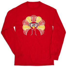 Girls Lacrosse T-Shirt Long Sleeve - Goofy Turkey Player