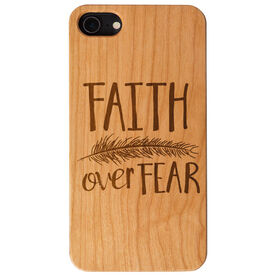 Engraved Wood IPhone® Case - Faith Over Fear