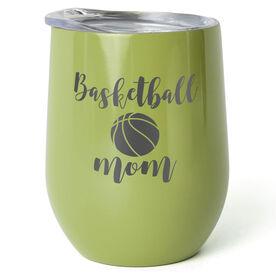 Basketball Stainless Steel Wine Tumbler - Basketball Mom