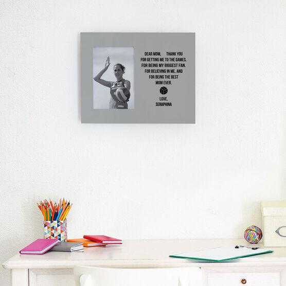 Volleyball Photo Frame - Dear Mom Heart