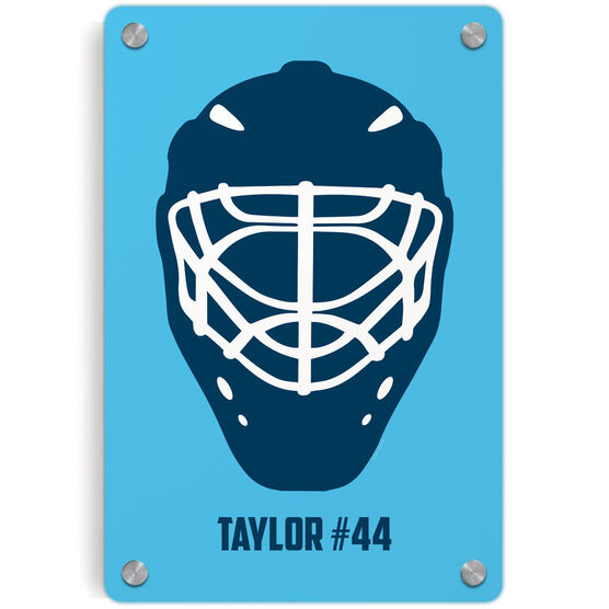 Hockey Metal Wall Art Panel - Personalized Goalie Mask