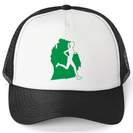 Running Trucker Hat - Michigan Female Runner