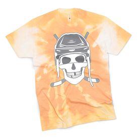 Hockey Short Sleeve T-Shirt - Skull Tie-Dye