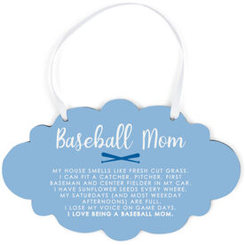 Baseball Cloud Sign - Baseball Mom Poem