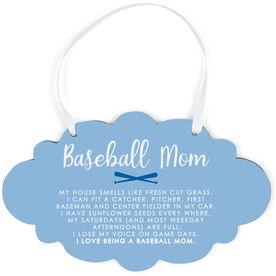 Baseball Cloud Sign - Baseball Mom Poem