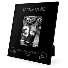 Football Engraved Picture Frame - Name And Number