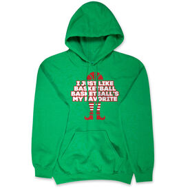 Basketball Hooded Sweatshirt - Basketball's My Favorite