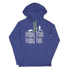 Women's Running Lightweight Hoodie - Happy Trails Happy Tails