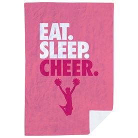 Cheerleading Premium Blanket - Eat. Sleep. Cheer. Vertical