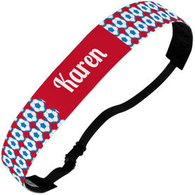 Soccer Juliband No-Slip Headband - Personalized Soccer Ball Pattern