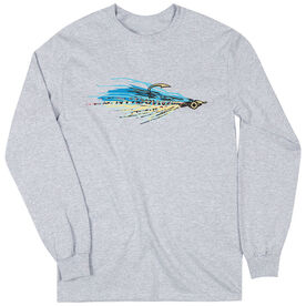 Fly Fishing T-Shirt Long Sleeve Clouser Fly