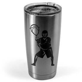 Guys Lacrosse 20 oz. Double Insulated Tumbler - Goalie Silhouette