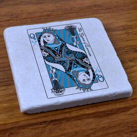 The Queen Of Lacrosse - Natural Stone Coaster