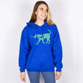 Field Hockey Hooded Sweatshirt - Field Hockey Dog