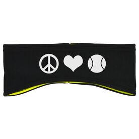 Tennis Reversible Performance Headband Peace Love Tennis