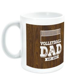 Volleyball Coffee Mug Dad With Wood Background