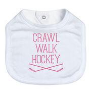 Hockey Baby Bib - Crawl Walk Hockey