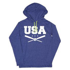 Women's Baseball Lightweight Hoodie - USA Baseball