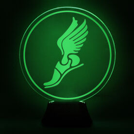 Track & Field Acrylic LED Lamp Winged Foot