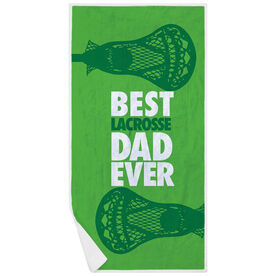 Guys Lacrosse Premium Beach Towel - Best Dad Ever